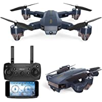 ETbotu WiFi FPV with 720P HD Camera Altitude Hold Mode Foldable RC Drone Quadcopter RTF for FQ777 FQ35-0.3MP with Battery