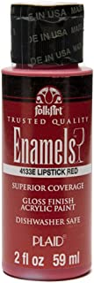 product image for FolkArt Enamel Glass & Ceramic Paint in Assorted Colors (2 oz), 4133, Lipstick Red