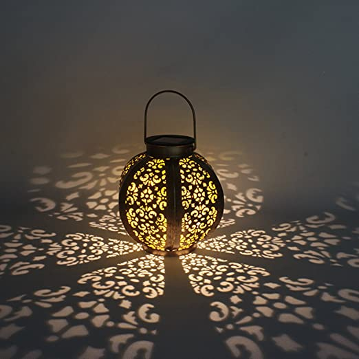 Ledmomo - Farol solar para iluminación de exteriores, farolillo solar colgante, resistente al agua, luz LED, iluminación de paisaje para patio, terraza o jardín: Amazon.es: Iluminación