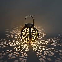 LEDMOMO LED Solar Lantern Lights Outdoor Pathway Hanging