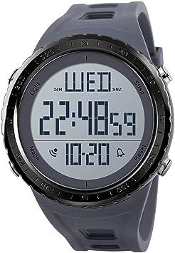 Reloj digital deportivo para hombre, números grandes, resistente ...