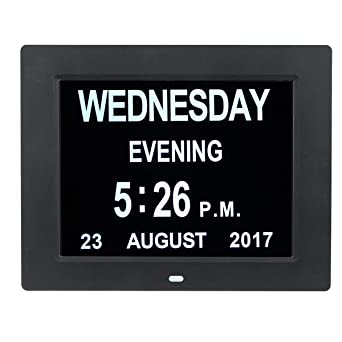 ExcLent 7 Pulgadas Led Calendario Digital Reloj Día Extra ...