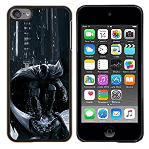 LECELL--Funda protectora / Cubierta / Piel For Apple iPod Touch 6 6th Touch6 -- Carácter Pc Consola Gris Negro --