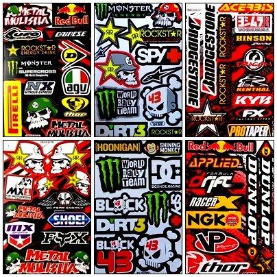 Rockstar Energy Drink Metal Mulisha Yamaha Motocross Racing Helmet Motorcycle Decal Sticker