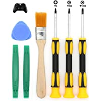 T8 T6 T10 Screwdriver Set for Xbox One Xbox 360 Controller and PS3 PS4, Safe Prying Tool and Cleaning Brush