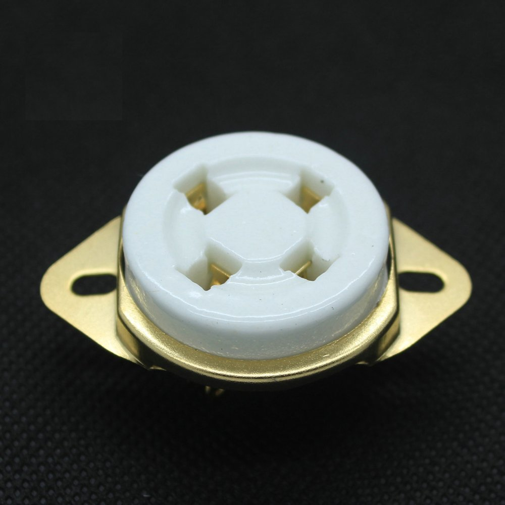 Amazon com: Ceramic 4 pin Vacuum Tube Sockets for 2A3 10 45 71A 80