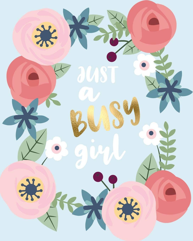 Amazon.com: Just A Busy Girl: Diario Agenda Settimanale ...