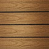 NewTechWood US-QD-ZX-TK Ultrashield Naturale Outdoor Composite Quick Deck Tile (10 Case), 1' x 1', Peruvian Teak