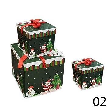 BATOP Christmas Gift Box Large Present Wrapping Boxes Ribbon Handles Big Festive Boxes SQC8334 (3PCS  sc 1 st  Amazon.com & Amazon.com: BATOP Christmas Gift Box Large Present Wrapping Boxes ...