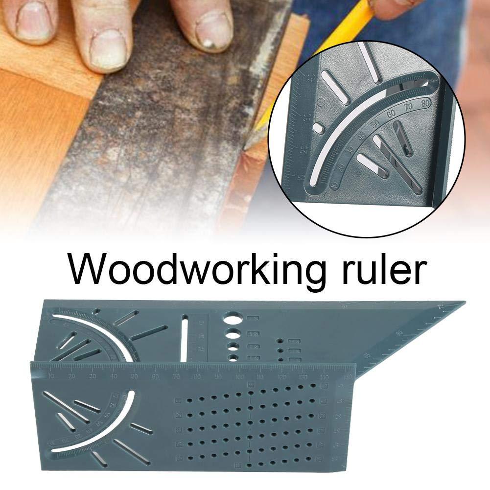 Eruditter Regla de carpinter/ía Pl/ástica Carpinter/ía de Madera Regla de /ángulo 3D Woodcraft Scriber Tipo T Regla de 90 Grados Multifuncional Regla de /ángulo