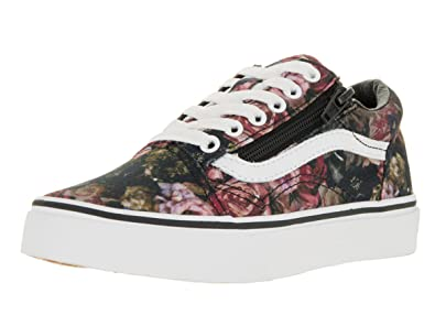 Vans Womens Old Skool Zip Gunmetal Leather Trainers  Amazon.co.uk ... 63a674e780dd