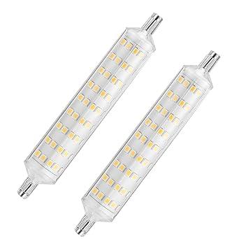 Bombilla LED R7s,ONLT 2 PCS R7S 10W Bombilla LED Lineal,R7s led 118mm