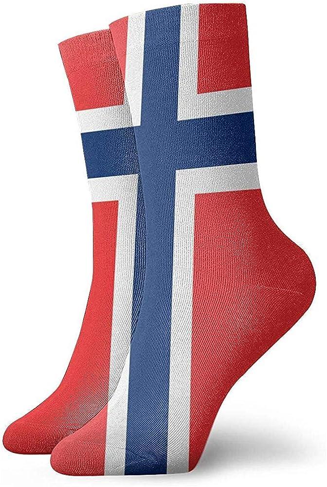 Adamitt Flagge von Norwegen Unisex Crew Socks Short Sports Stocking
