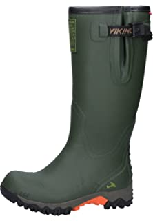 Viking Unisex-Erwachsene Trophy Camo Gummistiefel, Grün (Green/Multi), 38 EU