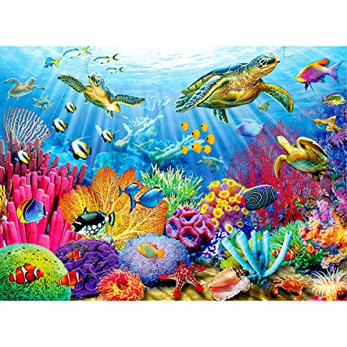 Ravensburger Tropical Waters 500 Piece Jigsaw Puzzle for Adults - Every Piece is Unique, Softclick Technology Means Pieces Fit Together Perfectly