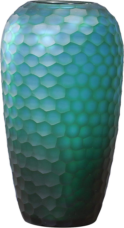 Generic Brands Vase en C/éramique pour Fleurs,Porcelaine Faite /à la Main avec Vitrage de Boules de Cylindre pour la D/écoration Int/érieure