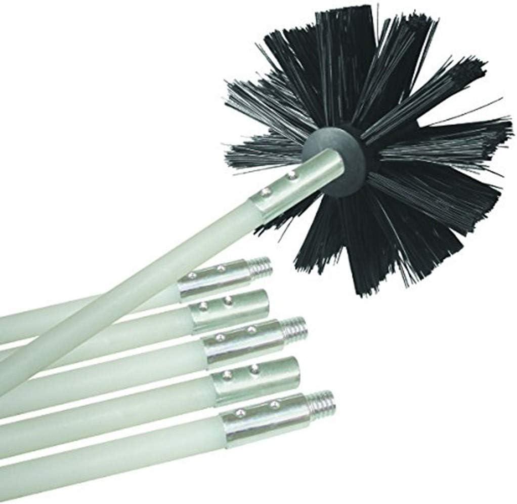 DEtrade - Cepillo de Limpieza para Secadora, para Caldera, Chimenea, Pared Interior, Secadora, Cepillo para tuberías, doblado