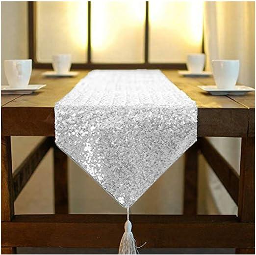 Diamante Table Runner Placemats Velvet Chenille Wedding Banquet Party Dinner DIY