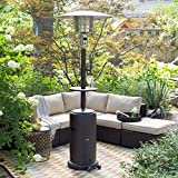 Tall Patio Heater with Table,AZ Patio Heaters - Mocha