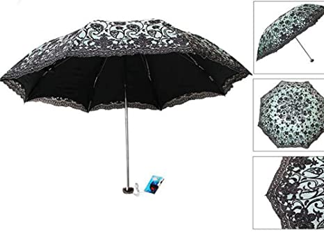 89b9c7adeb2f Amazon.com: Biscount Black Color Anti-uv Sun Protection Umbrellas ...