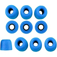 Baosity 10 Pieces Noise Reducing Replacement Earbud Tips Comfortable Secure Fit for Workout - Blue