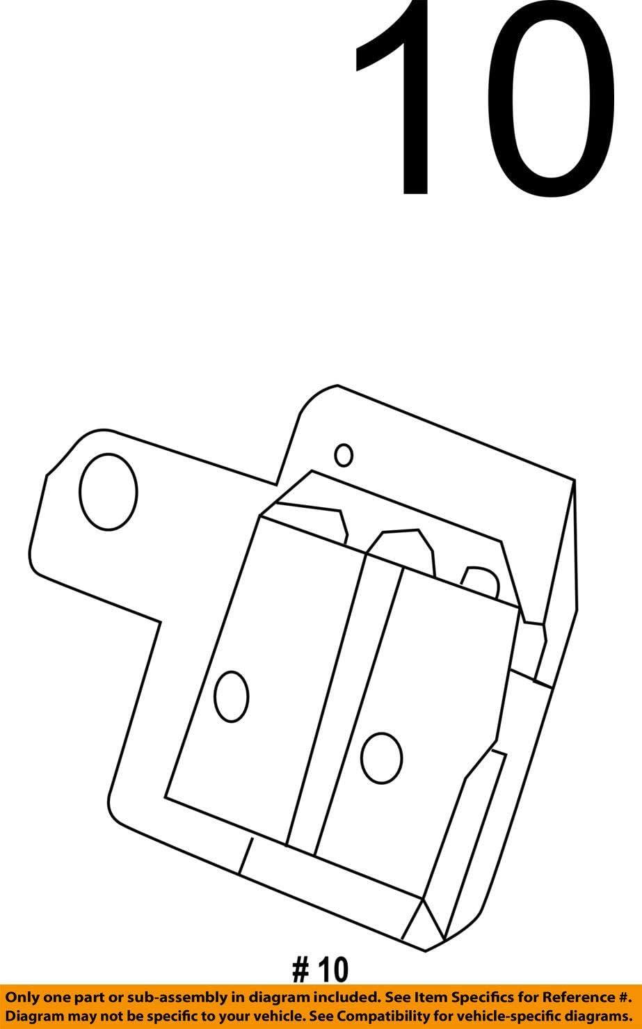 Genuine Honda 1B770-RW0-000 Powertrain Control Unit Insulator Assembly