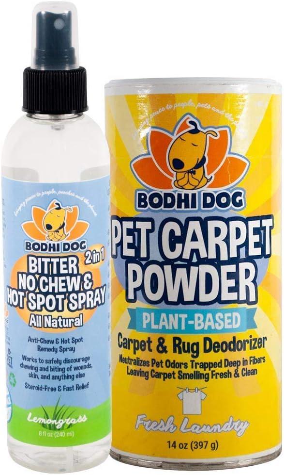 Bodhi Dog Bitter 2 in 1 No Chew 8oz + Carpet Powder Bundle