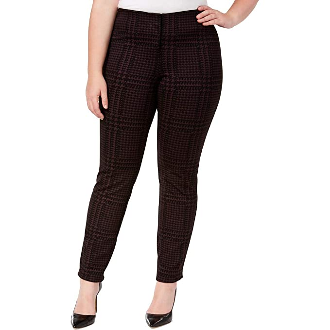 2e3fd2ff64bca Alfani Plus Size Hollywood Printed Skinny Pants at Amazon Women s ...