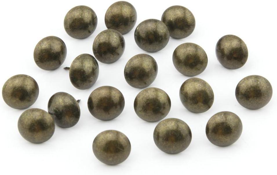 Kopfteile 8 mm Kopfdurchmesser Sofa MroMax Polstern/ägel 25 St/ück antike runde Rei/ßzwecken f/ür M/öbel bronzefarben