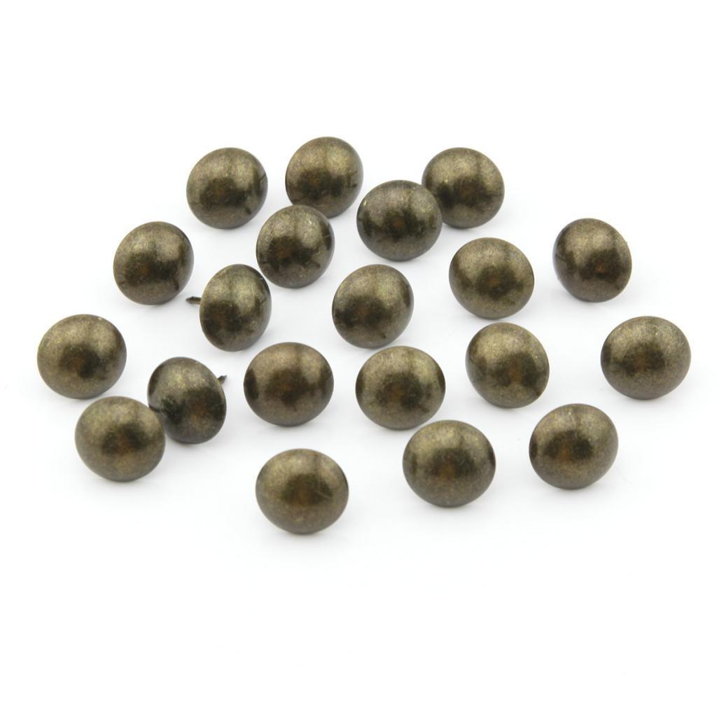 50/pcs 20/Mmx25/mm Bronze antique /épaissir T/ête ronde punaise Pushpin Dessin Pin Doornail Deco Tack Clous tapissier tambour /à ongles