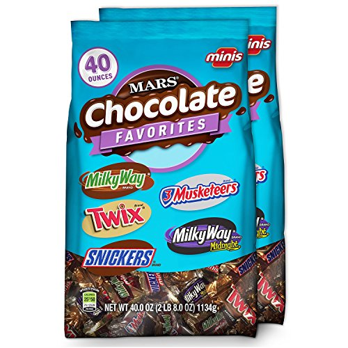 MARS Chocolate Minis Size Candy Variety Mix 40-Ounce Bag (Pack of 2) (Bag Of Candy)