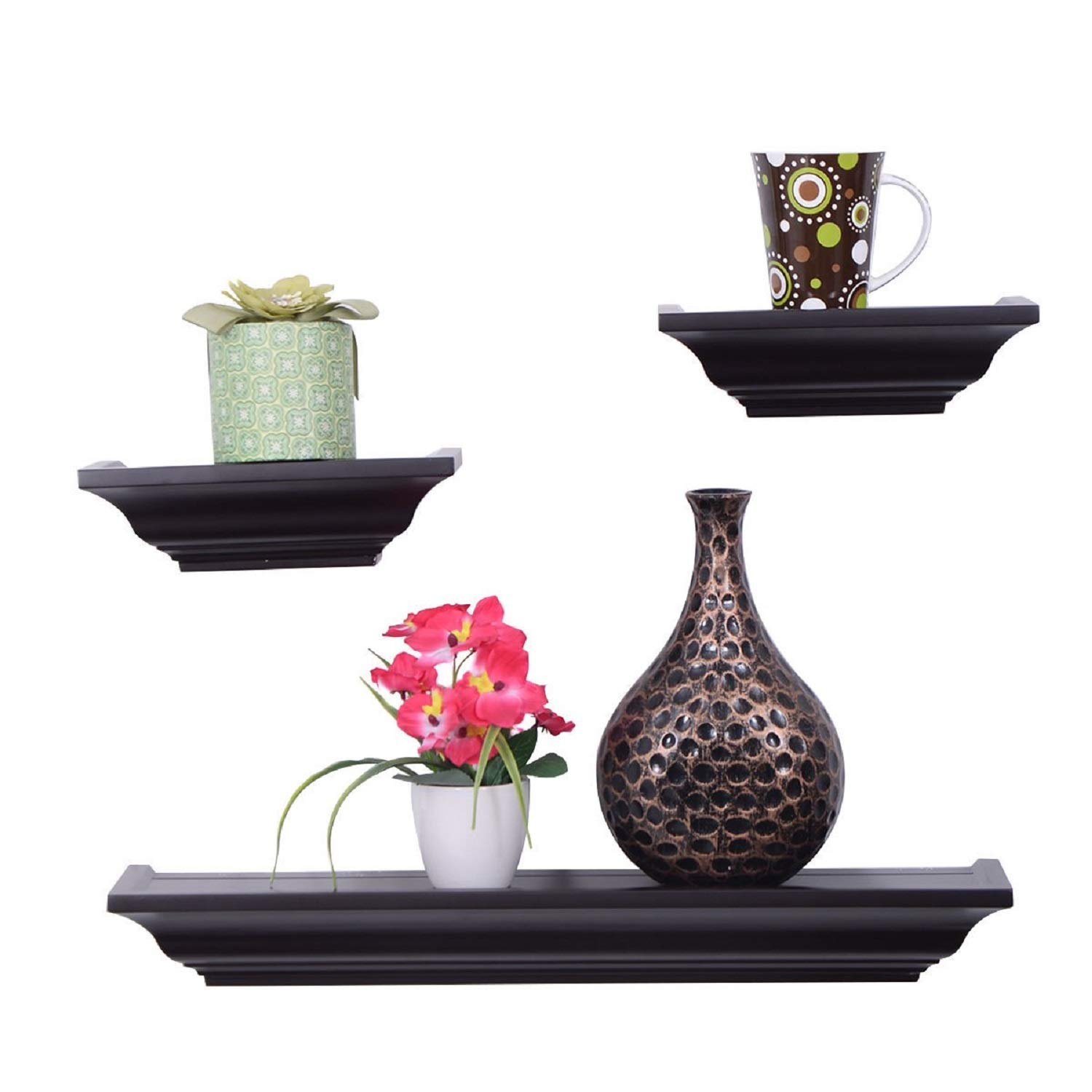 COSTWAY A Set of 3 Fireplace Mantel Shelf by SpiritOne by COSTWAY