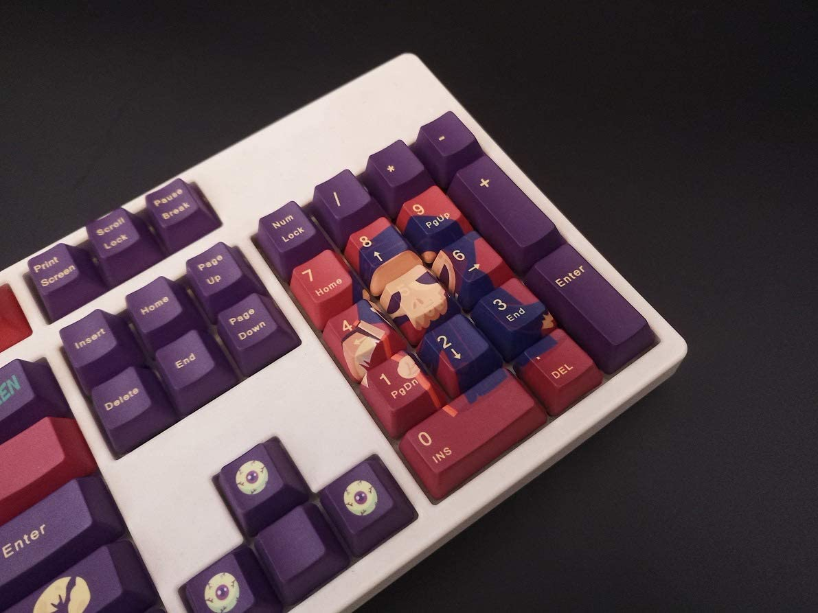 PBT Material OEM Height 87//104//108 Keycaps MX Switch Halloween Theme SSSLG Keycaps ,108 Keycap for Mechanical Keyboard