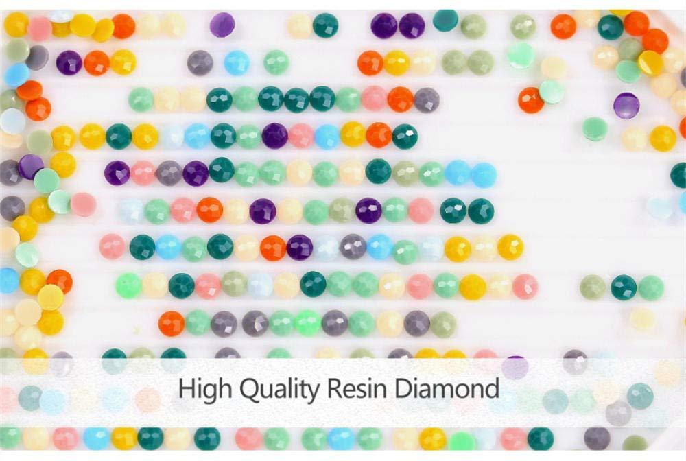 round diamond 40 * 50cm DIOPN Nuevo Corredor de flores 3D diy diamante pintura punto de cruz bordado pegado taladro cuadrado decoraci/ón para el hogar patr/ón de diamantes fotos