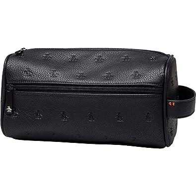 5c0b456ad9b Original Penguin Mens Zip Fastening Wash Bag Accessories (OS One Size,  Black)