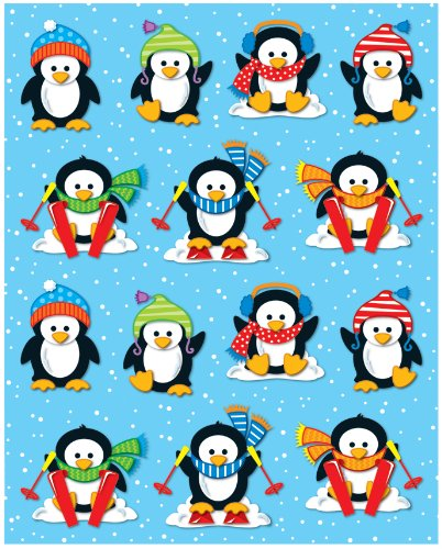 Carson Dellosa Penguins Shape Stickers -