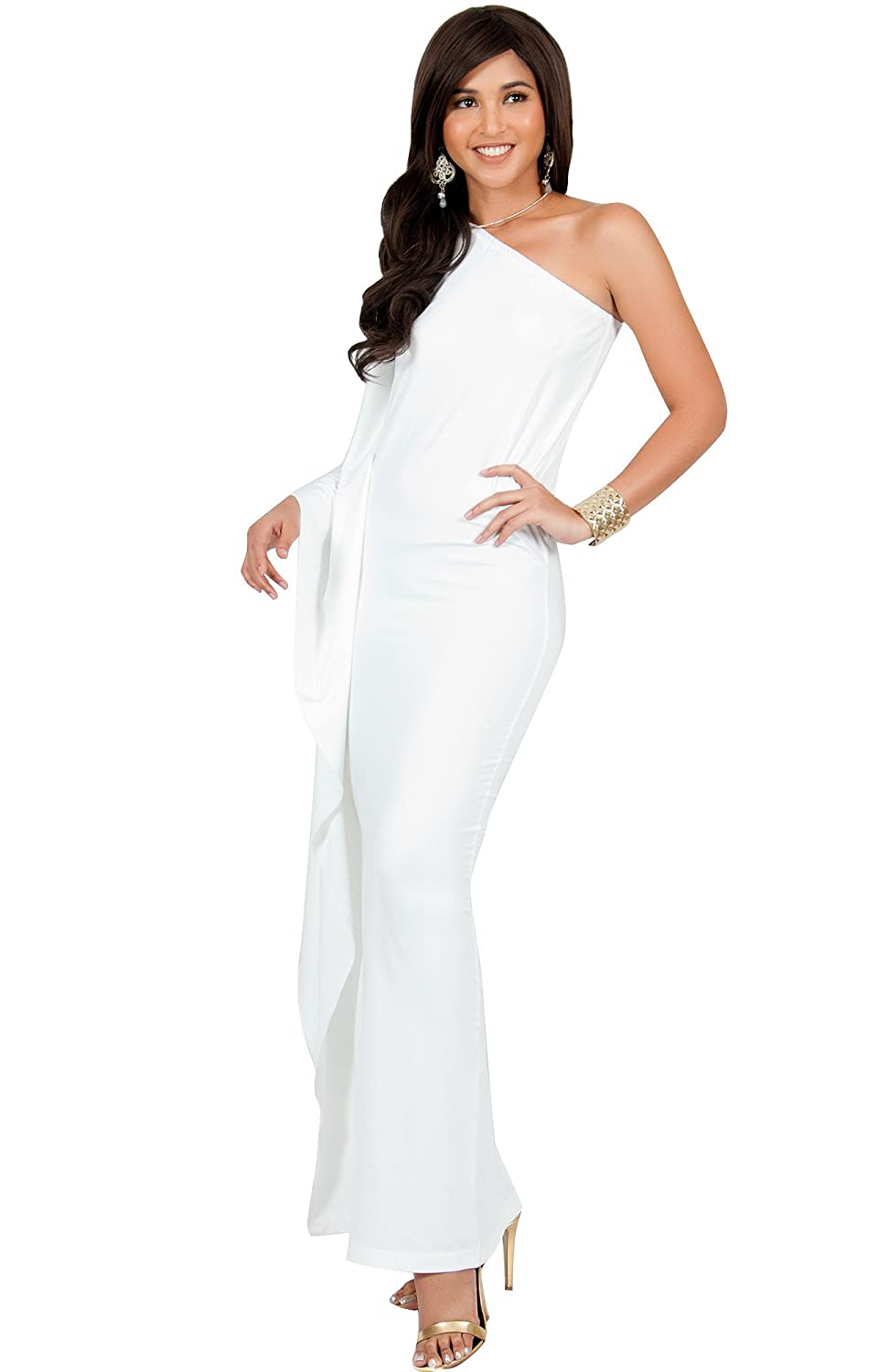 4b71fb66925 PLUS SIZE - This great maxi dress design is also available in plus sizes.  STYLE - A one shoulder ...