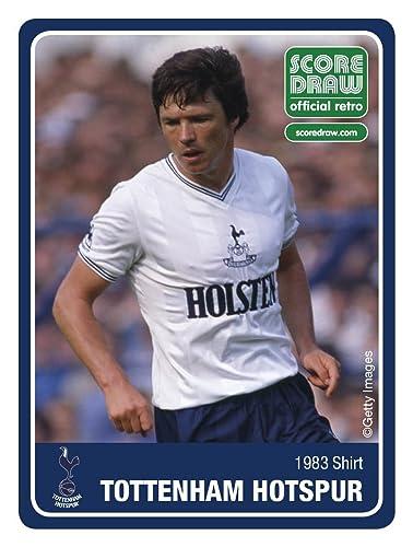 Score Draw Tottenham Hotspur F.C White Mens 1983 Shirt Small