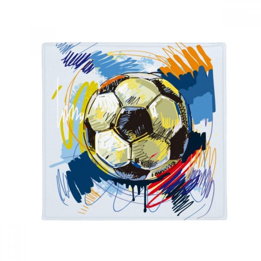 DIYthinker Football Soccer Sports Painted Anti-Slip Floor Pet Mat Square Home Kitchen Door 80Cm Gift