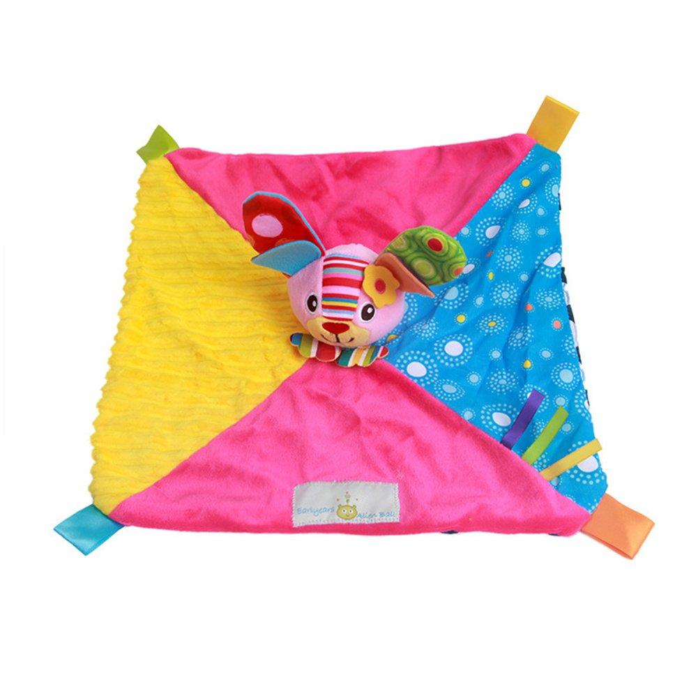 INCHANT Seguridad Juguete Manta - Seguridad Blankie suaviza y proporciona seguridad para bebés, Baby calmante toalla, manta de felpa incorporado Campana: ...