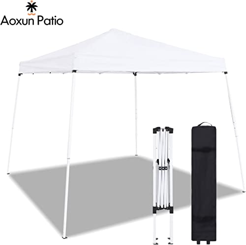 Aoxun Patio Pop-Up Slant Leg Canopy Tent