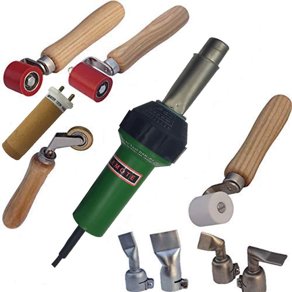 110V or 220V Hot Air Gun Welding Torch 1600W Heat Gun Plastic Welder Roofing Welder Kits (Heat Gun Set) by chengyan