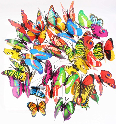 LeBeila Butterfly Stakes - Garden Yard Ornaments & Patio D