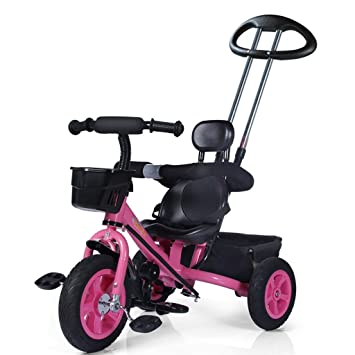 b89f73661c6 QWM-Baby child bicycles Men And Women Baby 1-5-year-old Three-wheeled Bike/ Children's Toys Pedal Children's gift (Color : B): Amazon.co.uk: Sports &  ...