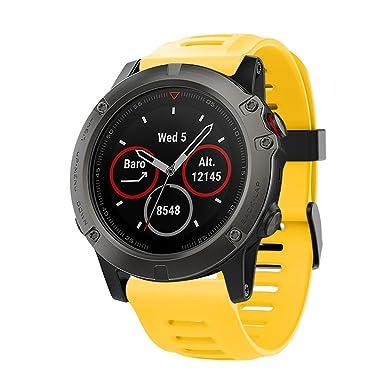 ✿ para Reloj Garmin Fenix 5X GPS, Correa de Silicona Suave Reloj de Pulsera Banda de reemplazo Absolute: Amazon.es: Ropa y accesorios