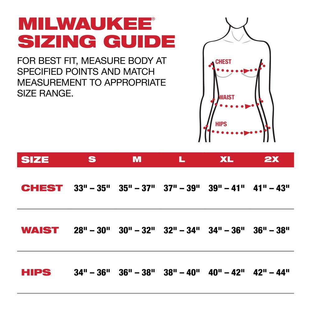 Milwaukee M12 Heated AXIS Vest Lithium-Ion Front and Back Heat Zones - Black (Large, Womens Vest Only) by Milwaukee (Image #4)