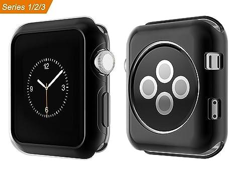 Wengerui Compatible con para Apple Watch Funda 42mm,TPU Suave Cubierta Parachoques Protectora Carcasa Compatible con para Apple iWatch Serie 3/Serie ...