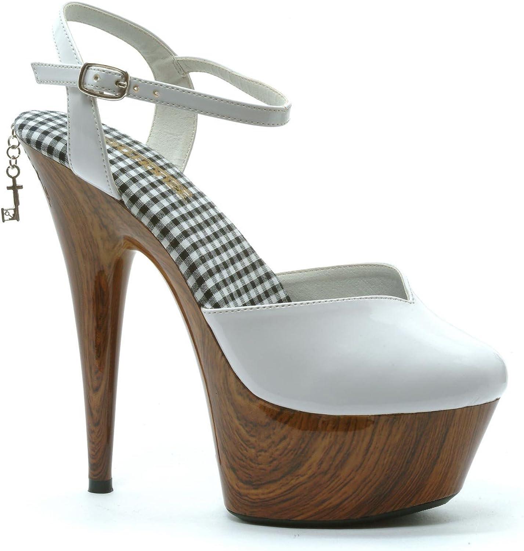Women's 6 Inch Stiletto Heel Wood Print