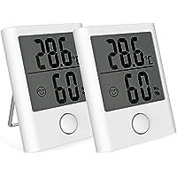 BACKTURE Termómetro Interior, 2 Pieza Mini Termómetro Higrómetro Digital con Imán, Termohigrómetro Profesional con…