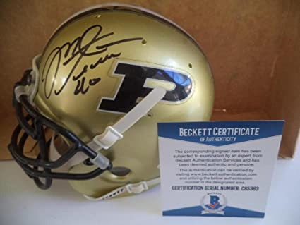 Amazon.com  Mike Alstott Purdue Signed Autograph Schutt Mini Helmet ... 64ab5fdb4